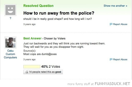 Run Away From The Police