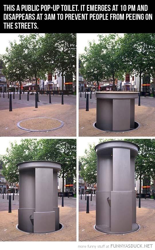 Pop-Up Toilet