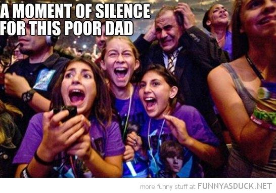 Poor Dad At A Bieber Concert