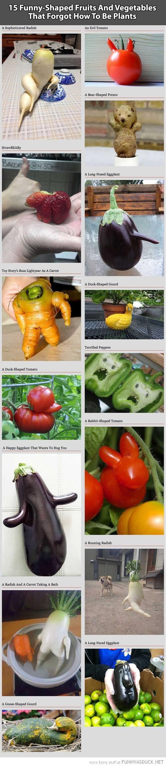 Funny Shaped Fruit & Veg
