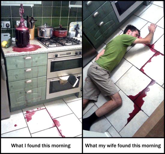 Red Wine Prank