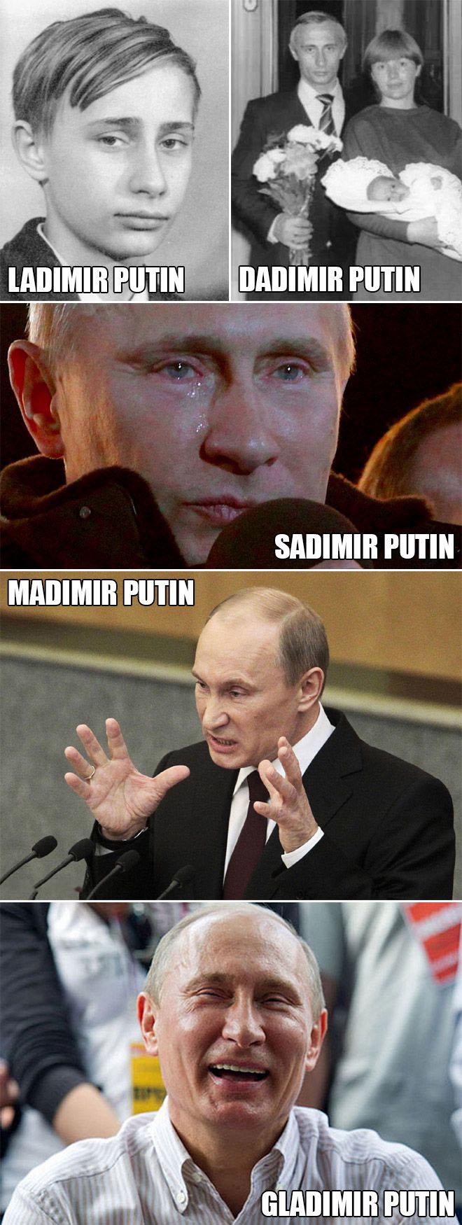 Faces Of Putin