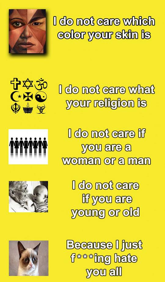 I Do Not Care...